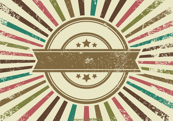 Retro Grunge Background - vector gratuit #355415