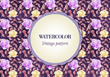 Free Watercolor Vector Floral Pattern - Free vector #355435
