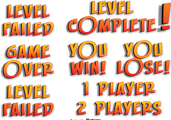 Game Vector Text Labels - Kostenloses vector #355445