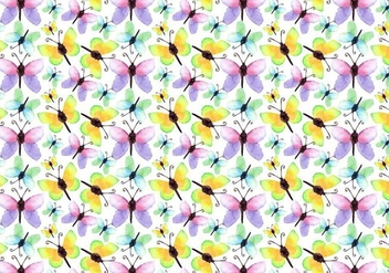 Free Vector Watercolor Butterfly Pattern - Kostenloses vector #355455