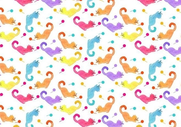 Free Vector Cat Animal Pattern - Free vector #355485