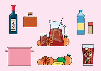 Sangria Illustrations - бесплатный vector #355585