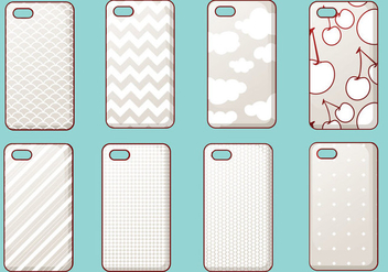 Trendy iPhone Case Vector Set - Kostenloses vector #355615