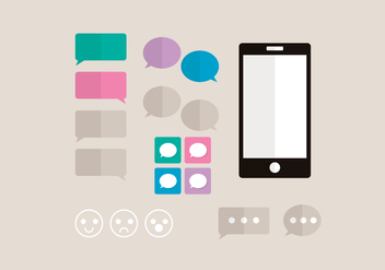 iMessage Vector Elements - vector gratuit #355625