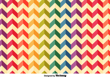 Colourful Herringbone Vector Pattern - vector gratuit #355645