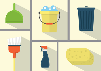 Spring Cleaning Illustrations - vector #355655 gratis