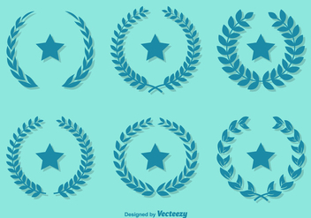 Emerald Color Vector Olive Wreaths - vector gratuit #355665