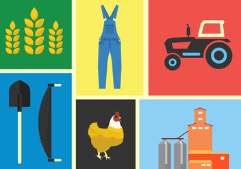 Farm Vector Illustrations - vector gratuit #355735