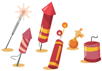 Fire Crackers Vector Set - vector gratuit #355745