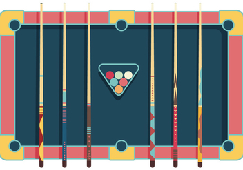 Pool Sticks Vector - vector #355845 gratis