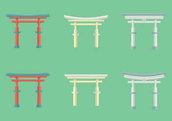 Free Torii Vector Illustration - Free vector #355855