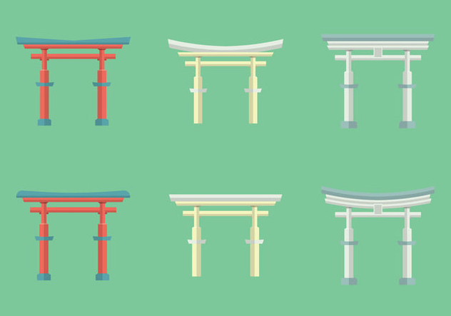 Free Torii Vector Illustration - vector gratuit #355855