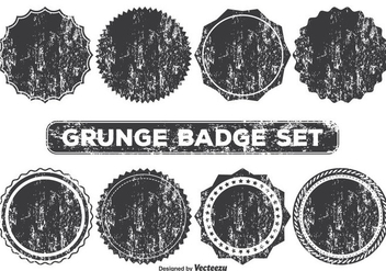 Grunge Style Badge Shapes - vector gratuit #355945