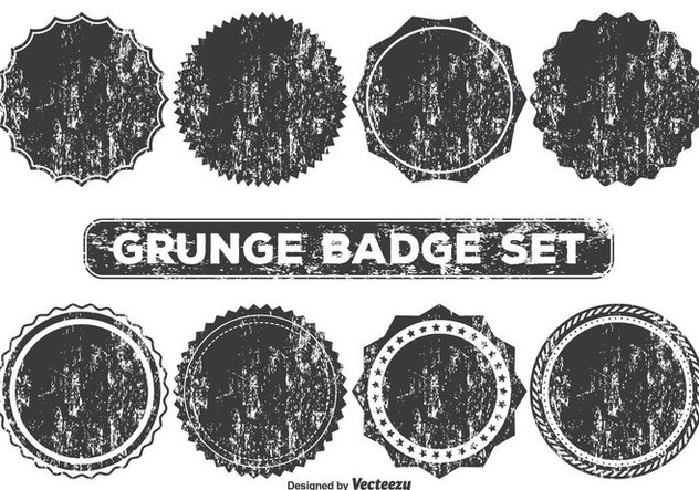 Grunge Style Badge Shapes - vector #355945 gratis