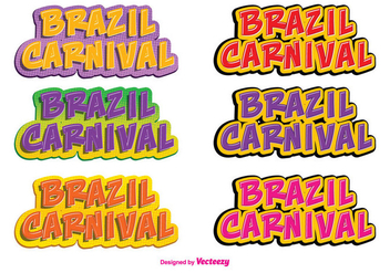 Brazil Carnival Vector Label Set - vector gratuit #355965