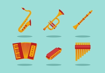 FREE MUSICAL INSTRUMENTS VECTOR - бесплатный vector #356025