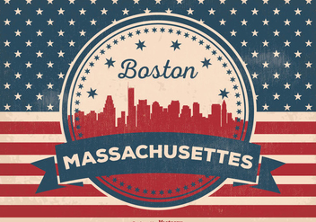 Boston Massachusettes Skyline Illustration - Kostenloses vector #356075