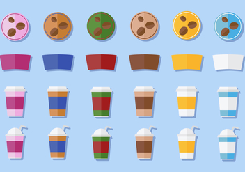 Free Coffee Sleeve Vector - vector gratuit #356105