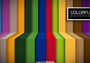 Colorful Stripes Vector Background - бесплатный vector #356185