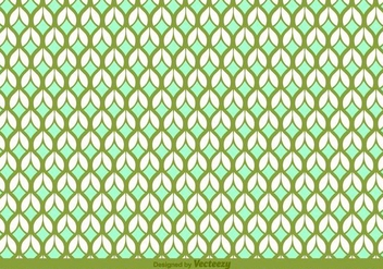 Retro Leaves Vector Pattern - vector #356265 gratis