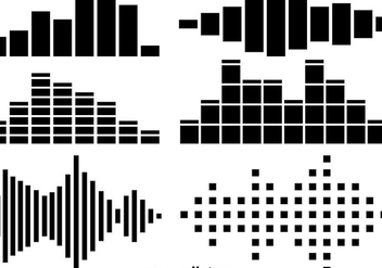 Sound Bars Icons Vector Set - Kostenloses vector #356315
