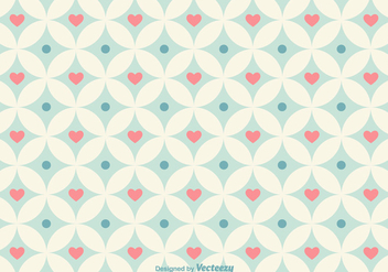 Geometrical Hearts Vector Pattern - Free vector #356325