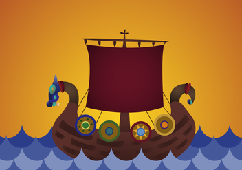 Free Viking Ship Vector - Free vector #356345