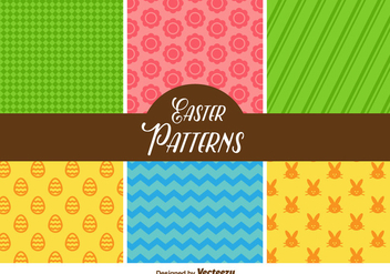 Cute Easter Vector Patterns - Kostenloses vector #356365