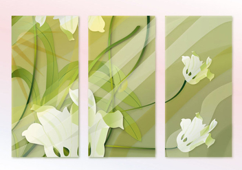 Abstract Hijau Painting Sequence Vector - Free vector #356485