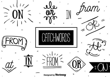 Free Catchwords Set Vector - Free vector #356595