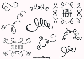 Free Ornaments Set Vector - бесплатный vector #356645