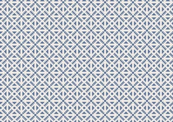 Blue Geometric Pattern Background Vector - Free vector #356705