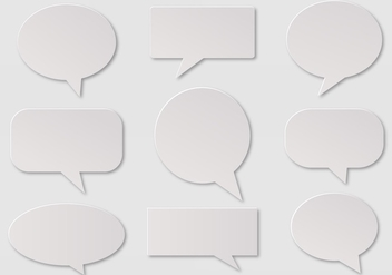 Free Vector Imessage, Speech And Communication Bubbles - Kostenloses vector #356765