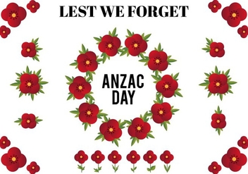 Free Vector Design Elements For Anzac Day - Free vector #356795