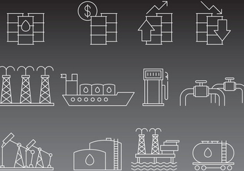 Vector Oil Line Icons - vector gratuit #356845
