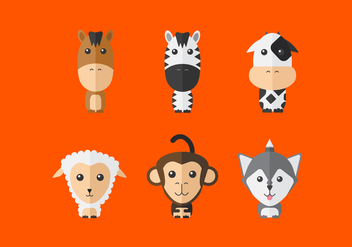Cute Vector Animals - vector #357045 gratis