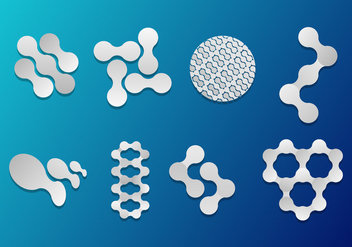 Nanotechnology Icons Vector - бесплатный vector #357095