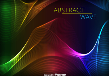 Abstract Swish Colorful Wave Vector - vector gratuit #357145