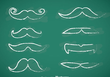 Movember Mustache Chalk Draw Vectors - бесплатный vector #357165