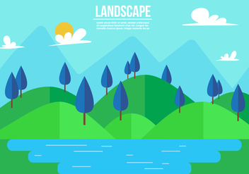 Free Landscape Vector Illustration - бесплатный vector #357265