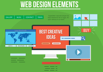 Free Vector Web Design Elements - vector gratuit #357275