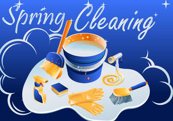 Sparkly Spring Cleaning Vector - Free vector #357295