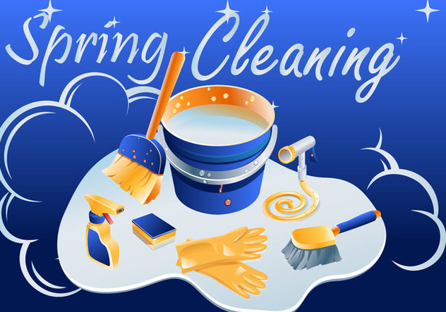 Sparkly Spring Cleaning Vector - vector gratuit #357295