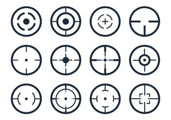 Crosshair Viewfinder Vector Icons - vector #357335 gratis