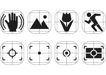 Camera Viewfinder Vector Menu Icons - Free vector #357385