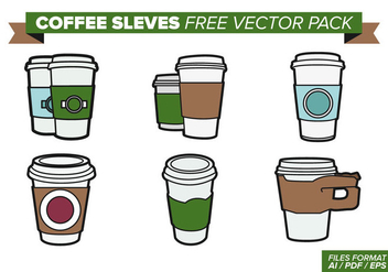 Coffee Sleeves Free Vector Pack - vector gratuit #357495