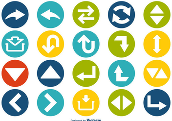 Arrow Icons Set - vector gratuit #357515