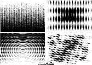 Halftone Pattern Set - бесплатный vector #357525