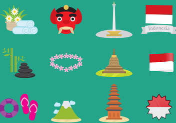 Indonesia Vector Icons - Kostenloses vector #357535
