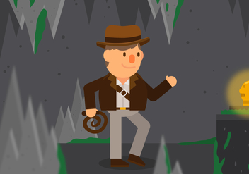 Vector Indiana Jones - vector gratuit #357545